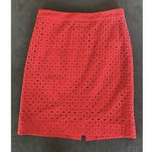 J. Crew No. 2 Red Pencil Skirt - 8